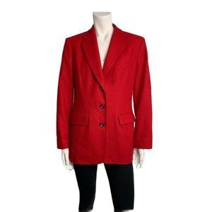 Holt Renfrew wool and angora red blazer